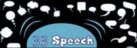 Beherbergt ein Dialog Blase Element Vektor-material