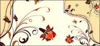 Fashion Flower background elemento materiale vector