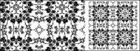 Черно-белый узор векторного материала