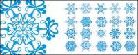 Nombre de flocons de neige exquis vecteur