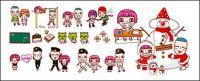 Симпатичные мультипликационных персонажей векторное