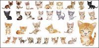material de vector Adorable gato pequeño