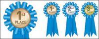 Векторное медаль медали материал