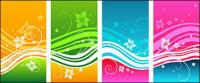 Динамический Мода Цвет шаблона вектор материал