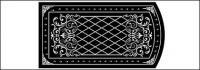 ลวดลายสีดำและสีขาวเวกเตอร์วัสดุ-3