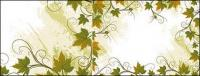 Rattan-Pflanze-Spitze-Rahmen