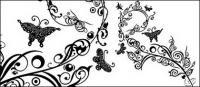 蝶とパターン ベクトル