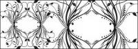 Mode schwarz-weiß-Muster Element Vektor-material
