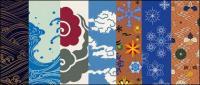 ベクトルの伝統的な絵画シリーズ 6-天候の変化