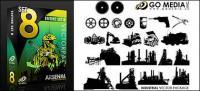 Gehen Media produziert Vektor-Material (set8) - Generator