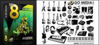 Gehen Media produziert Vektor-Material (set8) - Musikinstrumente