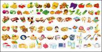 éléments de nourriture du vecteur