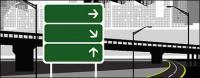 町の高速道路のベクター素材