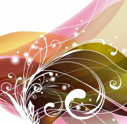 abstrakte Blumen Hintergrund Vektor