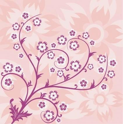 Абстрактный цветочный фон в розовых тонах