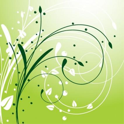 دوامة مجردة خلفية نباتية المتجهات