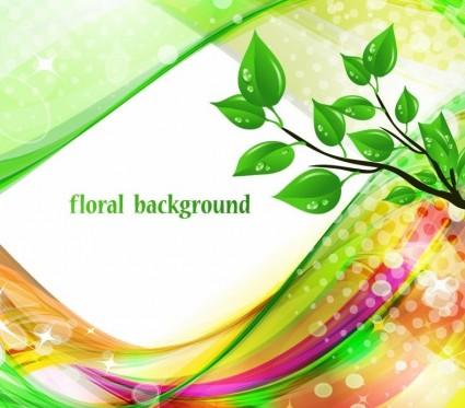 brillante Resumen fondo floral verde