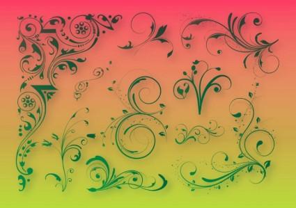 Цветочные украшения графика