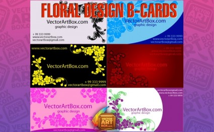 tarjetas de b diseño floral