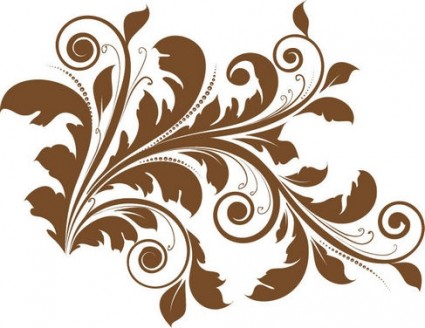 花のデザイン要素ベクトル