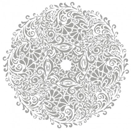 illustration vectorielle floral fond rond