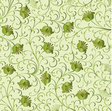 Зеленый цветочный фон вектор