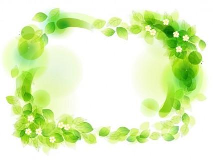 Ilustración de vector de marco floral verde