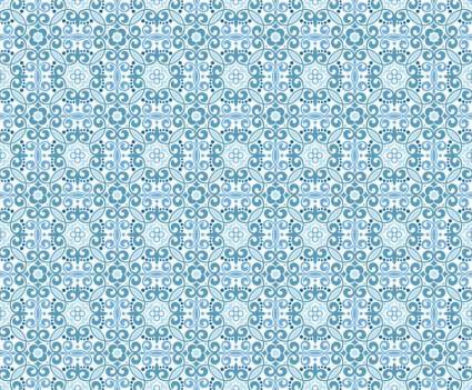 오리엔탈 꽃 패턴