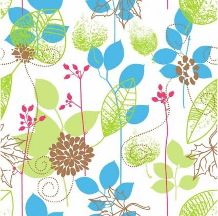 бесшовный цветочный дизайн Векторный фон