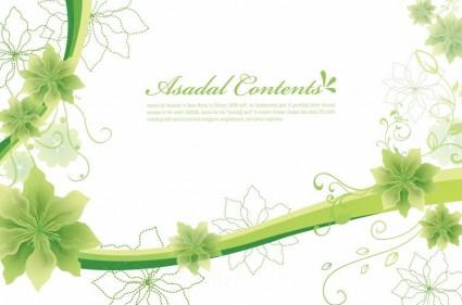 einfachen und eleganten floralen Hintergrund-Vektor-Grafiken