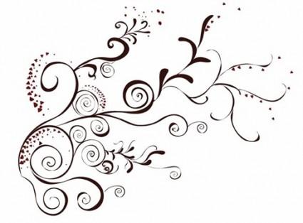 벡터 꽃 디자인 요소