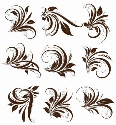 องค์ประกอบดอกไม้เวกเตอร์สำหรับการออกแบบ