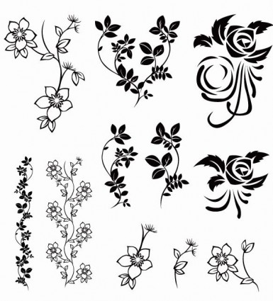 pack floral Vector