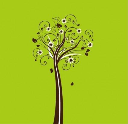 Векторные цветочные дерево