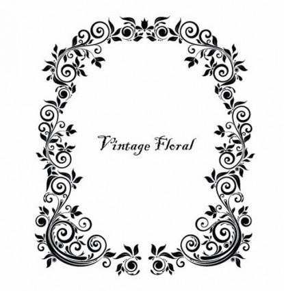 vector Vintage marco floral