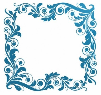 illustration vectorielle Vintage floral frame