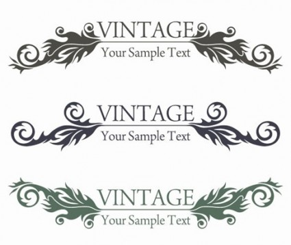 gráfico de vector de diseño floral de estilo vintage