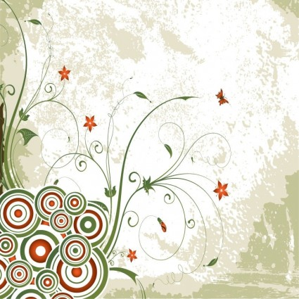 винтажные вихрем вектор цветочный фон