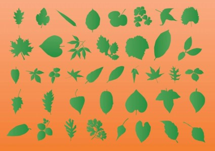 葉のベクター シルエット