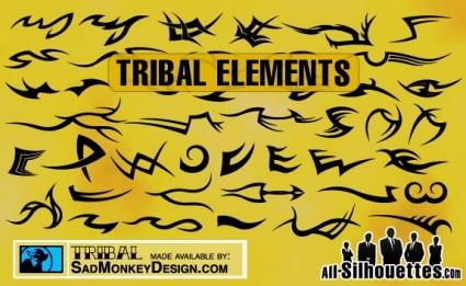 éléments de tatouage tribal