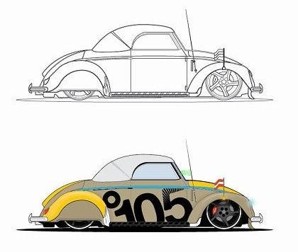 vector de coche Beatle
