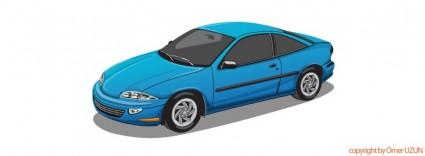 vector de auto azul
