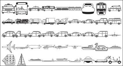 mezclador de taxis autobuses barcos transbordadores espaciales excavadoras