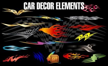éléments de décor de voiture