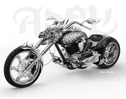 Крутой мотоцикл вектор ведущих