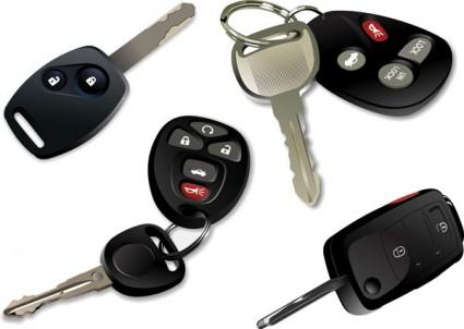 vecteur de clefs de voiture électronique