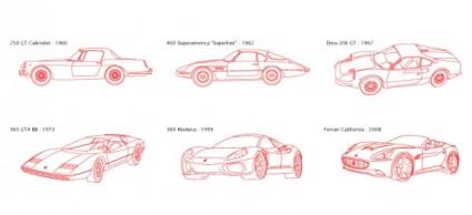 versión en línea del modelo vector clásico Ferrari