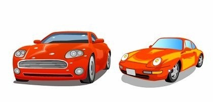 vector libres dos coches