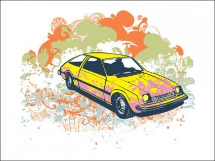 гранж ретро автомобилей векторные иллюстрации