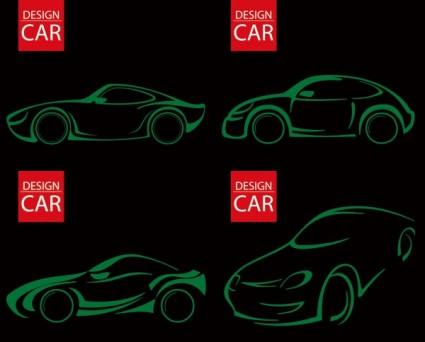 Рисование линии автомобиля вектор